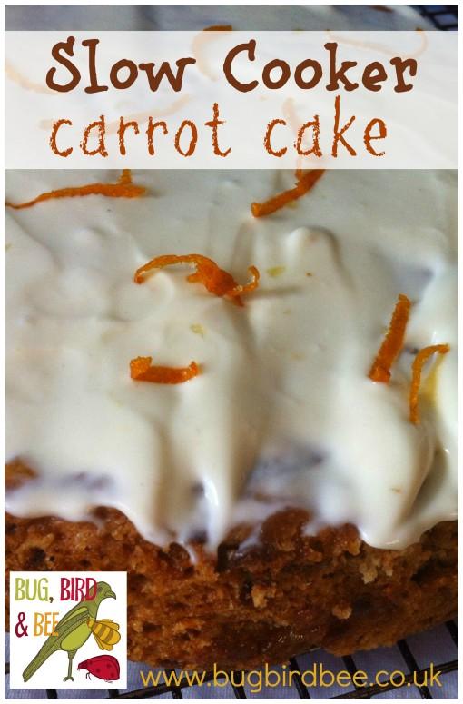 Slow Cooker (crock pot) vegan carrot cake