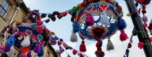 Yarn Bombing For Bath In Fashion Week In Aid Of Kids Company