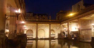 A Family Torchlit Visit To The Roman Baths,Bath