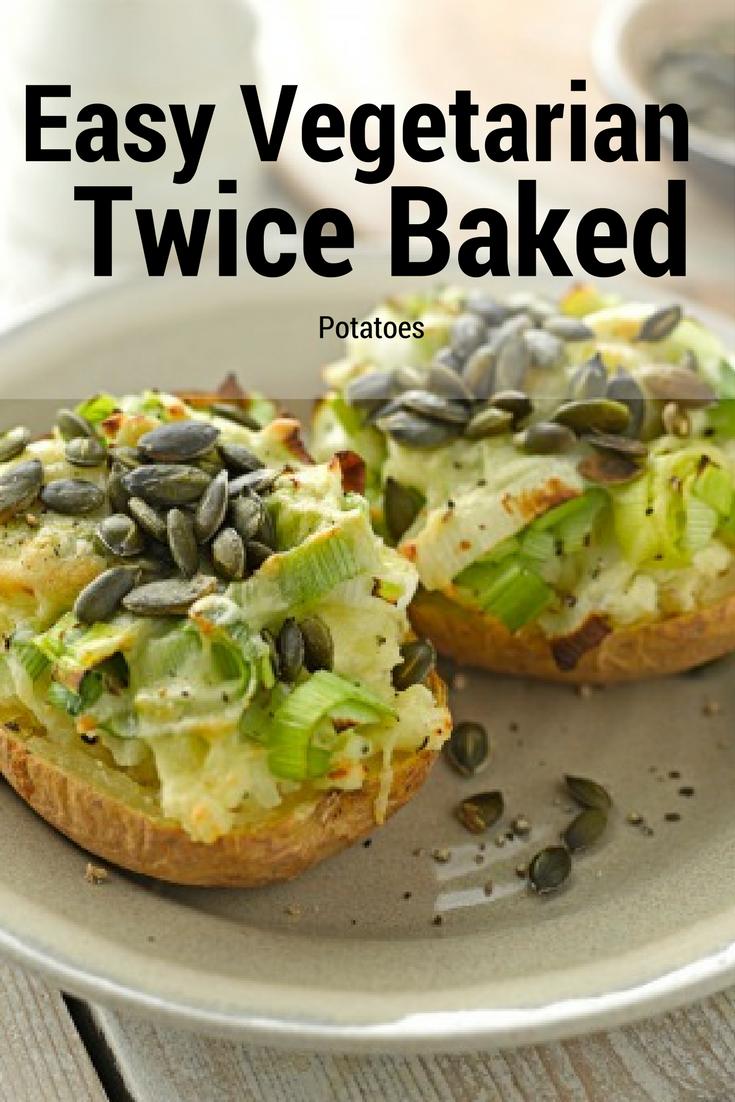 Vegetarian Twice Baked Potatoes