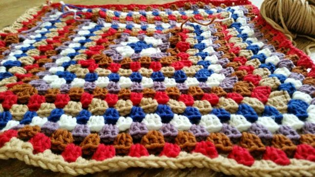 Large granny square blanket